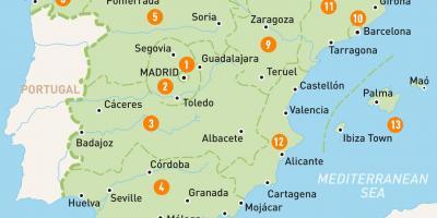 Madrid Arată Hartă Hărți Madrid Spania